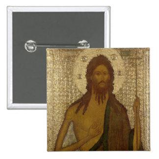 Icono de St. John el precursor Pin Cuadrada 5 Cm