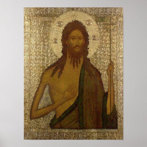 Icono de St. John el precursor Posters