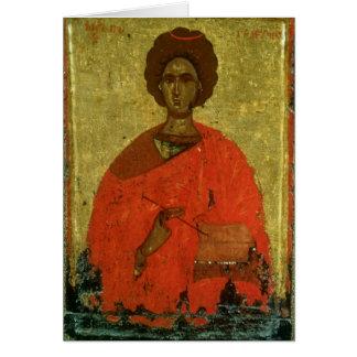 Icono de St. Pantaleon de Nicomedia Tarjeta De Felicitación