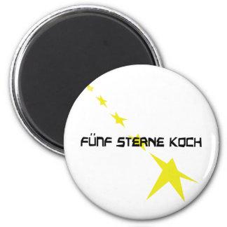 icono de Sterne Koch del fünf Imán Redondo 5 Cm