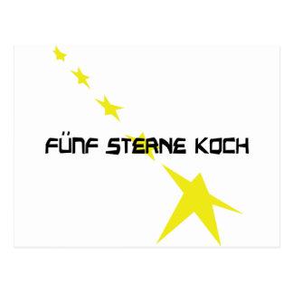 icono de Sterne Koch del fünf Tarjeta Postal