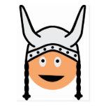 icono de vikingos tarjeta postal