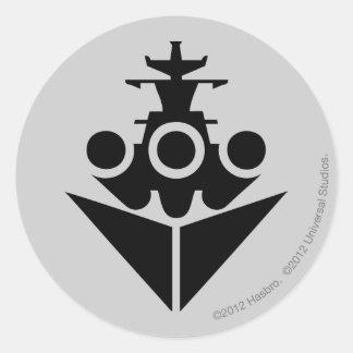 Icono del acorazado pegatina redonda