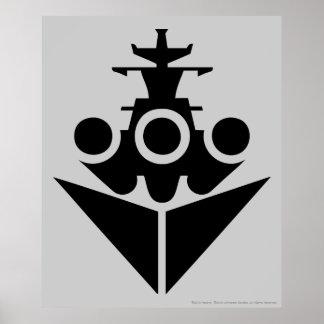 Icono del acorazado póster