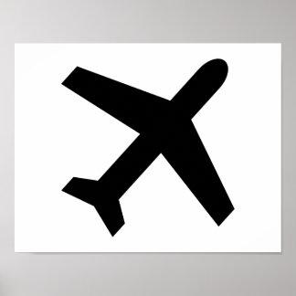 Icono del aeroplano póster