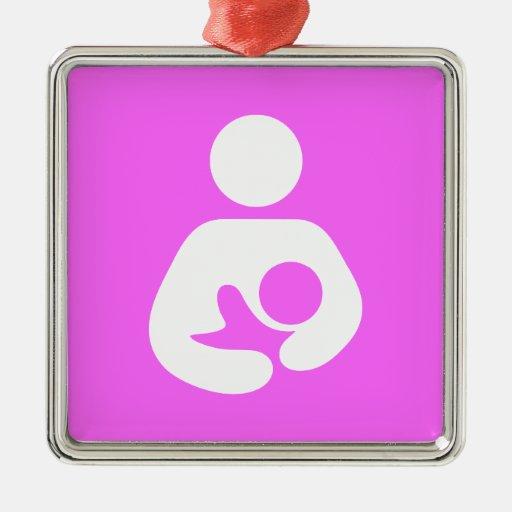 Icono del amamantamiento/del oficio de enfermera adorno de navidad