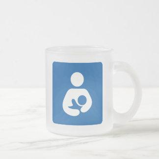 Icono del amamantamiento/del oficio de enfermera taza de café esmerilada