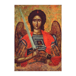 Icono del ángel Michael, Griego, siglo XVIII Impresiones En Lienzo Estiradas