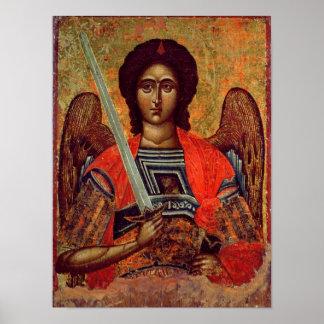 Icono del ángel Michael, Griego, siglo XVIII Póster