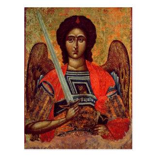 Icono del ángel Michael, Griego, siglo XVIII Tarjetas Postales