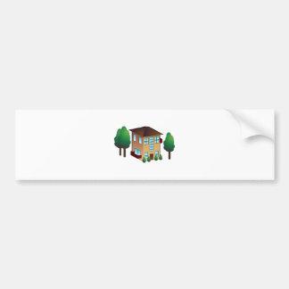 Icono del apartamento del condominio pegatina para auto