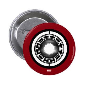 Icono del arco del hombre del hierro pin redondo de 2 pulgadas