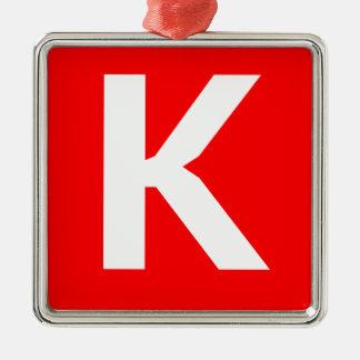 Icono del arte de Ken Adorno Cuadrado Plateado