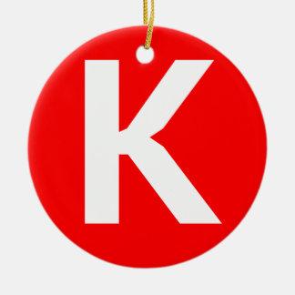 Icono del arte de Ken Adorno Redondo De Cerámica