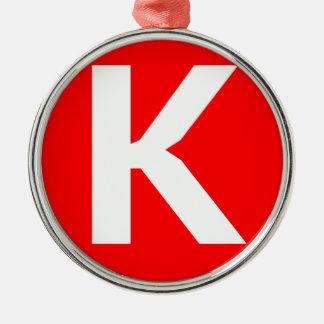 Icono del arte de Ken Adorno Redondo Plateado