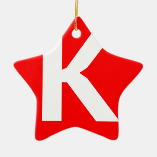 Icono del arte de Ken Adorno De Cerámica En Forma De Estrella