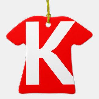 Icono del arte de Ken Adorno De Cerámica En Forma De Camiseta