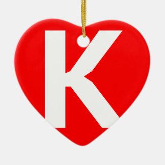 Icono del arte de Ken Adorno De Cerámica En Forma De Corazón