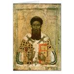 Icono del arzobispo de St Gregory de Salónica Tarjeton