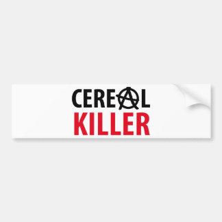 icono del asesino del cereal pegatina de parachoque