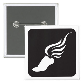 Icono del atletismo pin cuadrada 5 cm