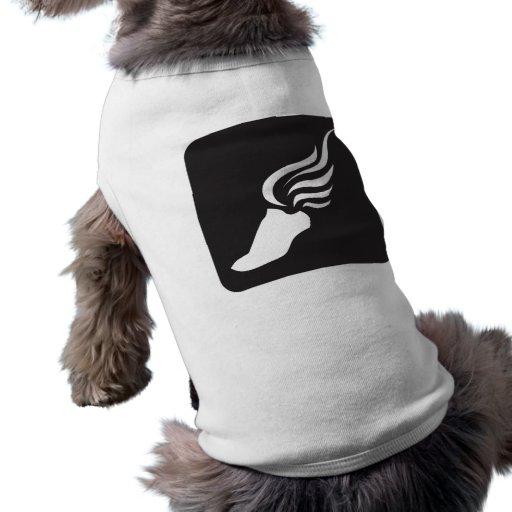 Icono del atletismo playera sin mangas para perro
