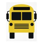 icono del autobús escolar flyer a todo color