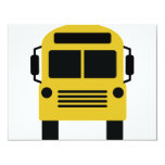 icono del autobús escolar invitación 10,8 x 13,9 cm