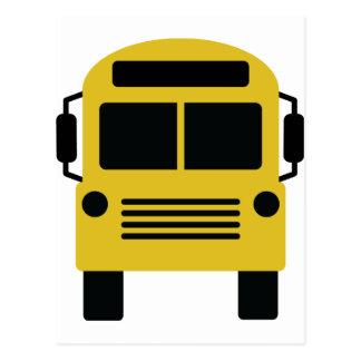 icono del autobús escolar tarjeta postal