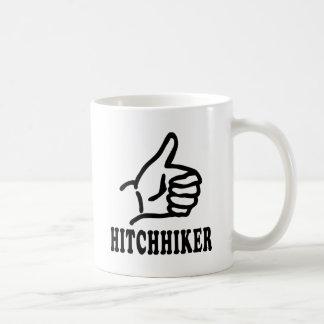 icono del autostopista tazas de café