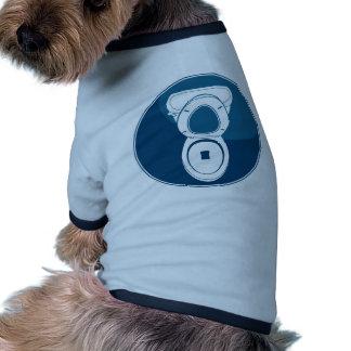 Icono del azul del retrete camiseta con mangas para perro