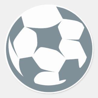 Icono del balón de fútbol etiqueta redonda