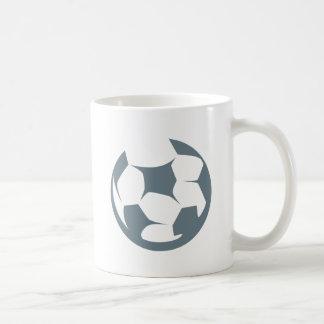 Icono del balón de fútbol taza