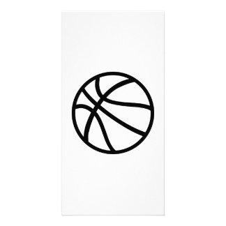 Icono del baloncesto tarjetas personales con fotos