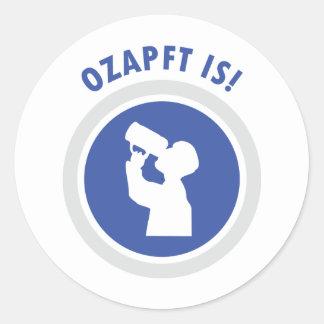 icono del bavarian de Oktoberfest de los ozapftis Etiquetas Redondas