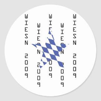 Icono del bavarian de Oktoberfest Pegatina Redonda