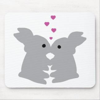 icono del beso del conejito tapetes de ratones