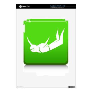 Icono del buceador del cielo calcomanía para el iPad 2