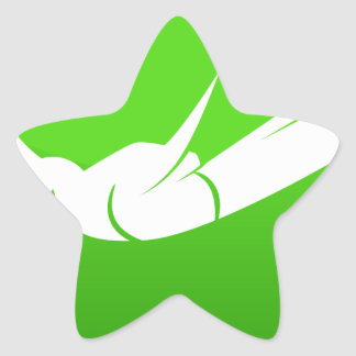 Icono del buceador del cielo pegatina en forma de estrella
