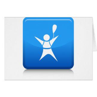 Icono del buceador del cielo tarjeta de felicitación