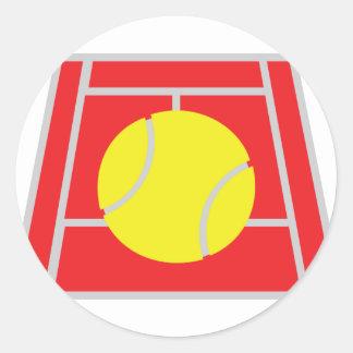 icono del campo de tenis etiqueta redonda