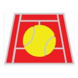 icono del campo de tenis postales
