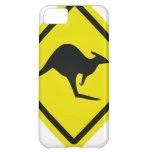 icono del canguro de Australia del roadsign