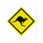 icono del canguro de Australia del roadsign Postal