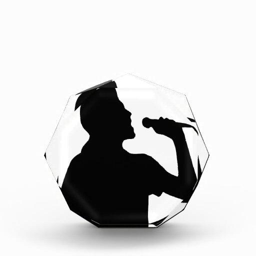 Icono del cantante - logotipo del Karaoke