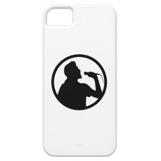 Icono del cantante - logotipo del Karaoke iPhone 5 Case-Mate Carcasa