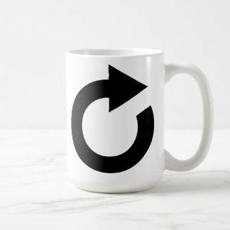 Icono del cargamento del ordenador taza básica blanca