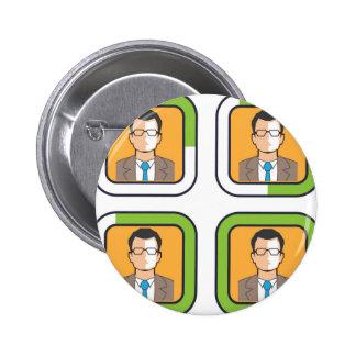 Icono del cargamento del perfil pin redondo de 2 pulgadas