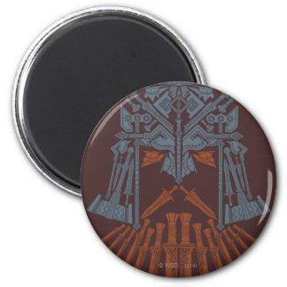 Icono del casco de las armas de Dwarven Imán Redondo 5 Cm