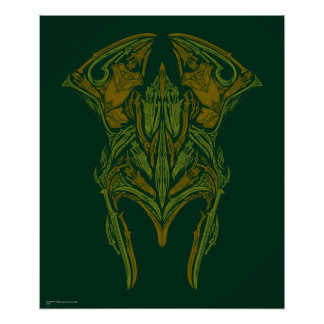 Icono del casco de las armas de Elven Póster